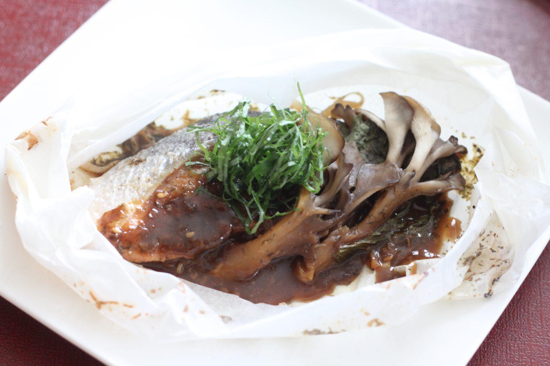 大葉みそ(大葉味噌)で作る鮭とキノコの包み焼き 大葉レシピ