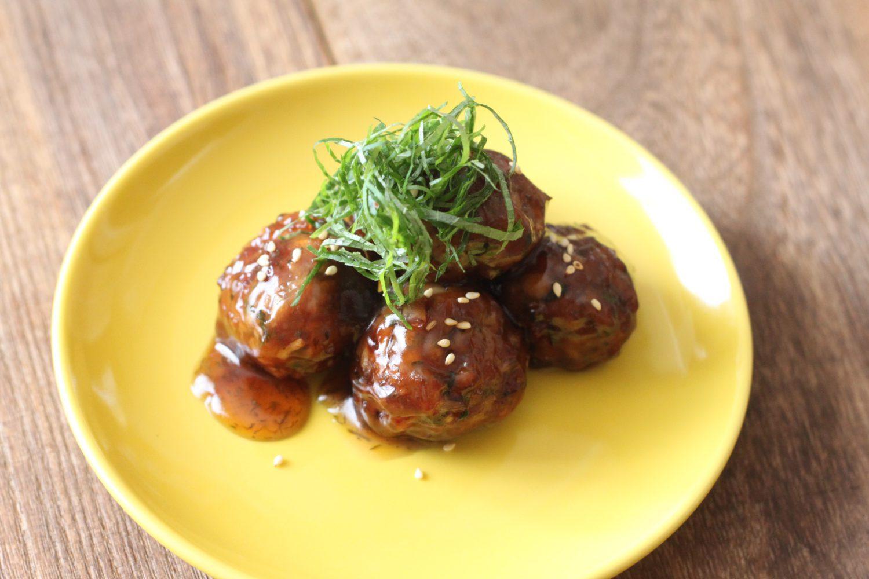 大葉たっぷり甘辛肉団子 大葉レシピ