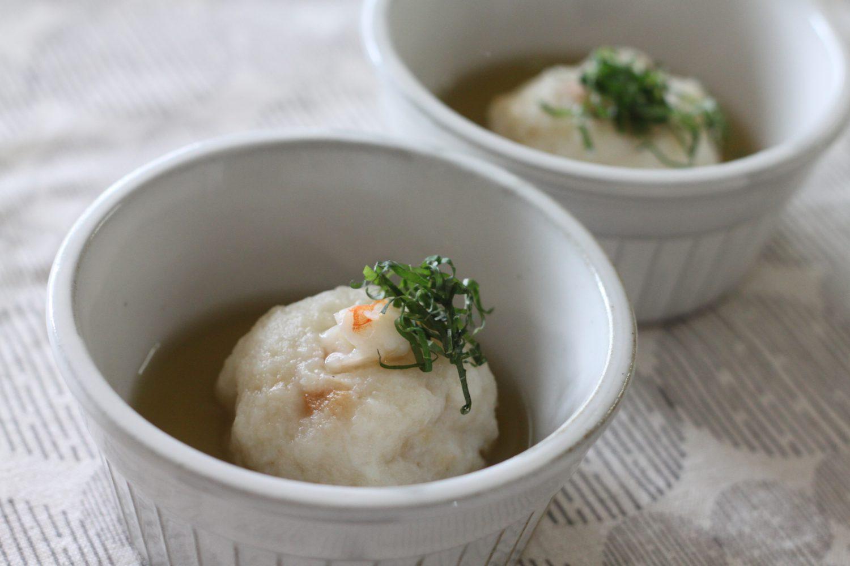レンコン饅頭の大葉茶出汁かけ 大葉レシピ