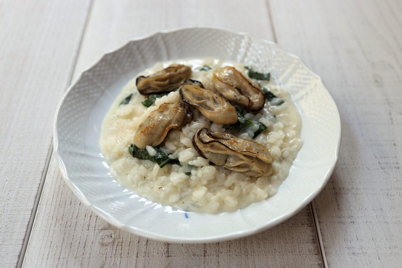 牡蠣と大葉のクリームリゾット 大葉レシピ