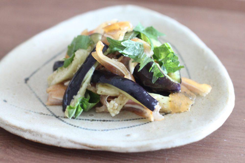 茄子とミミガーの大葉ドレッシング和え 大葉レシピ