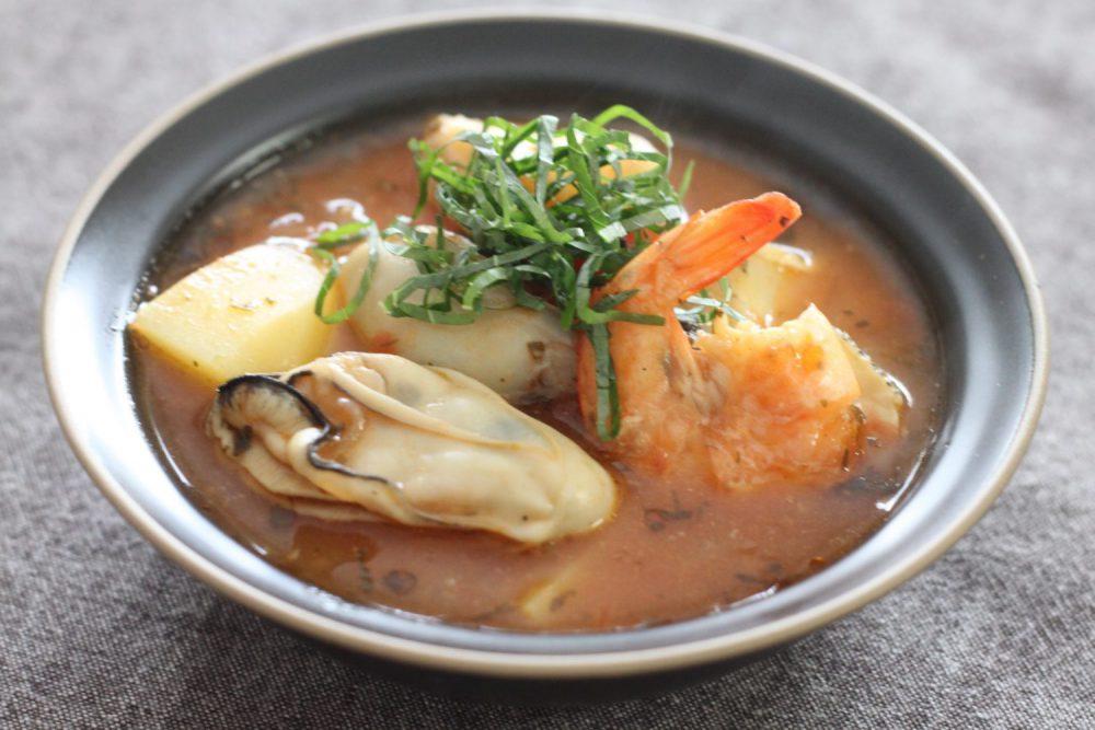 大葉みそを使った牡蠣入りブイヤベース 大葉レシピ
