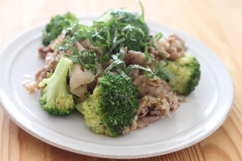 豚肉とブロッコリーの大葉味噌 大葉レシピ