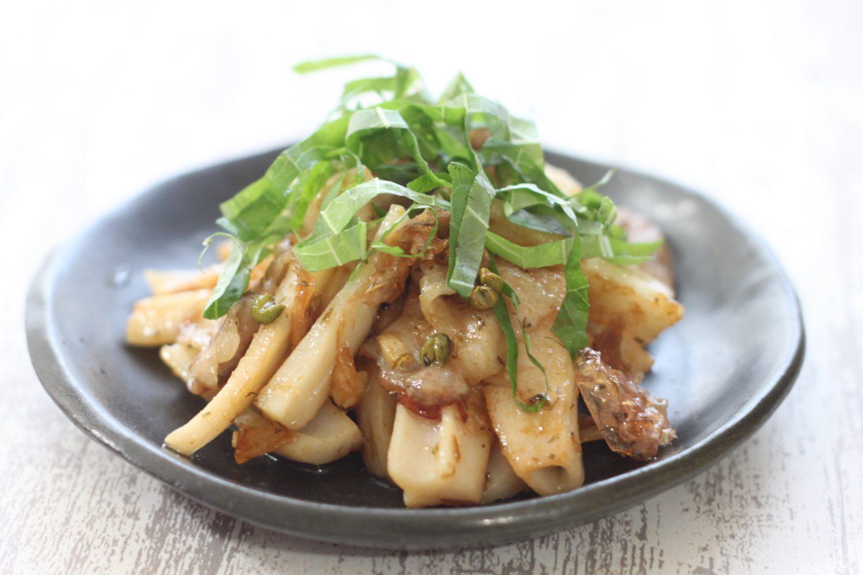 大葉味噌を使った豚バラレンコン炒め 大葉レシピ