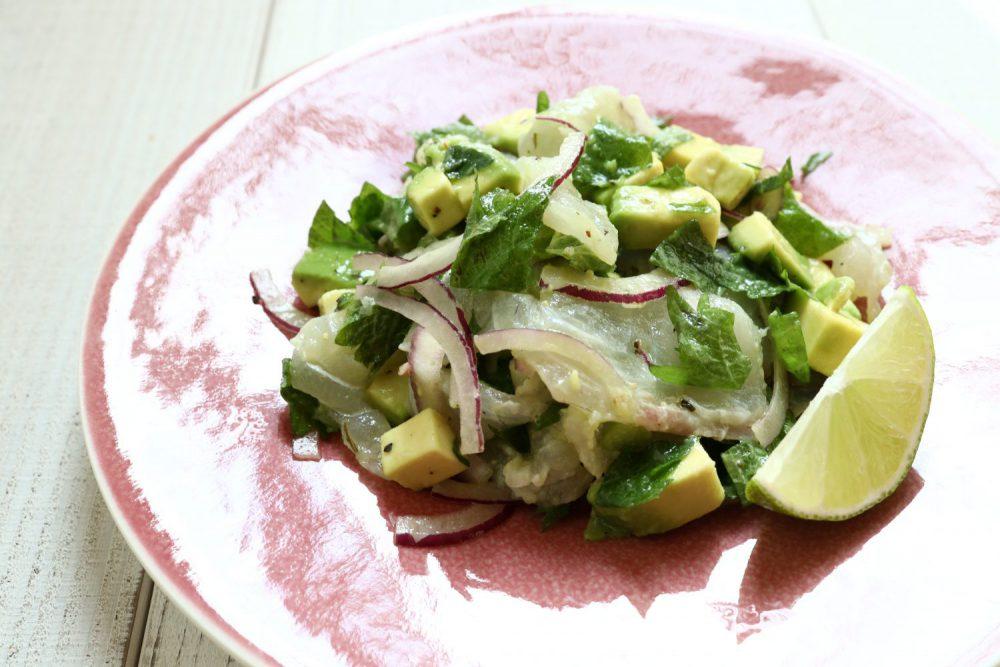 鯛の大葉セビーチェ 大葉レシピ