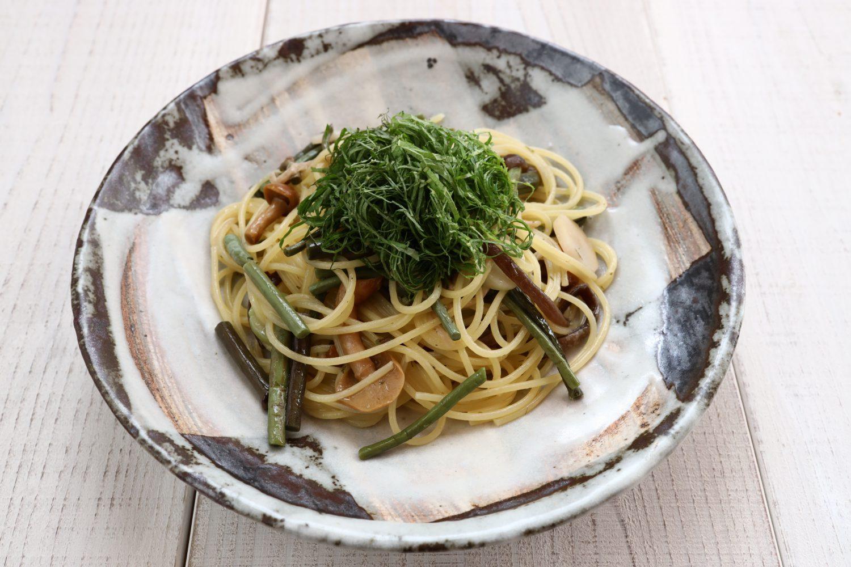 大葉と山菜のペペロンチーノ 大葉レシピ