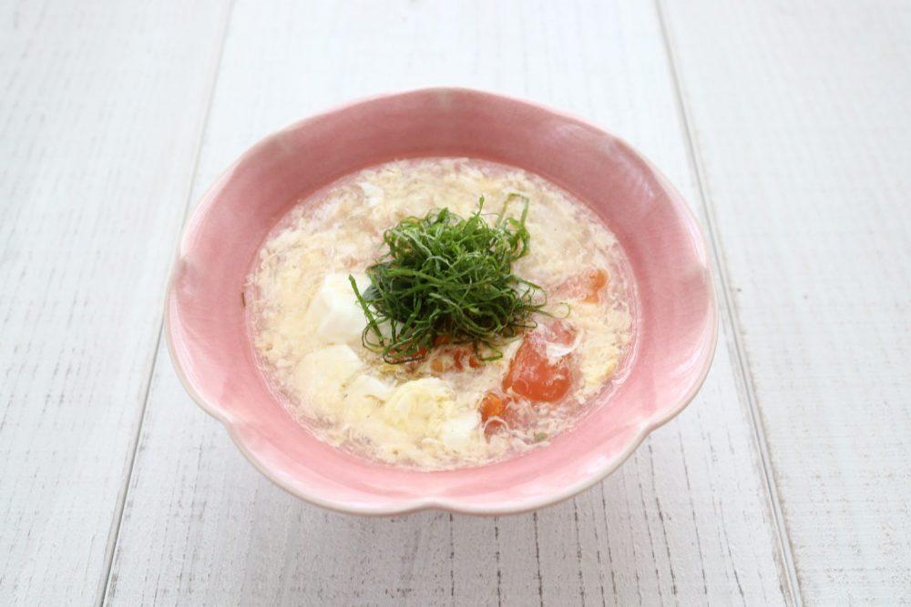 大葉塩ダレで!トマトと卵のとろみスープ 大葉レシピ