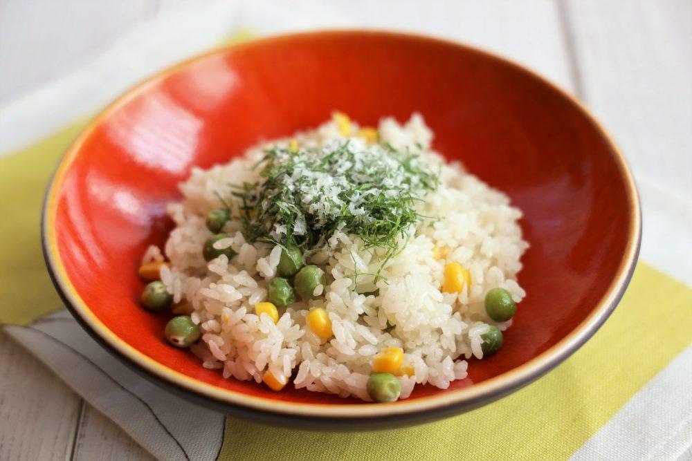大葉とグリーンピースのピラフ 大葉レシピ