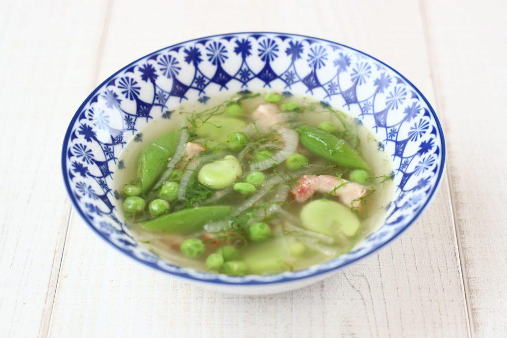大葉とお豆いろいろのスープ 大葉レシピ