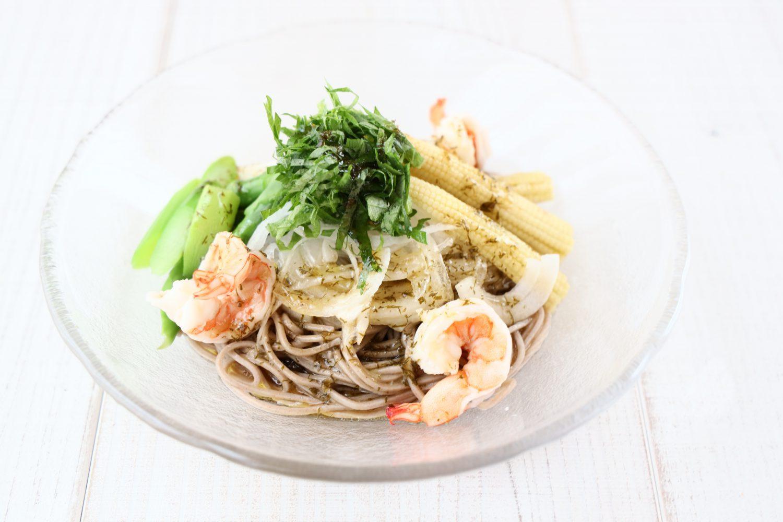 大葉と初夏野菜のサラダ蕎麦 大葉レシピ