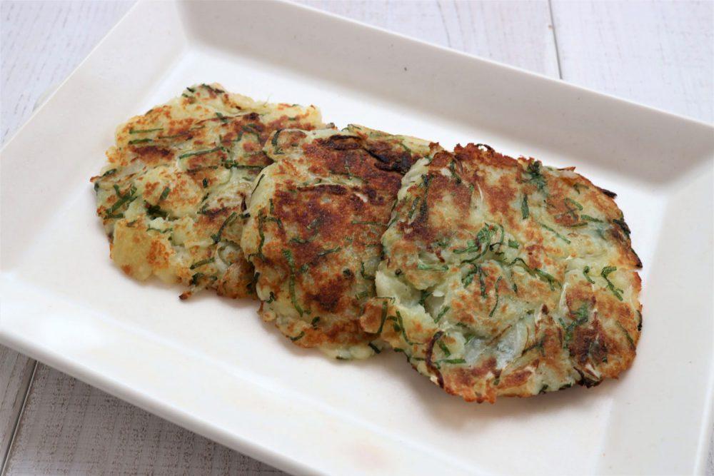 大葉と新玉のハッシュドポテト 大葉レシピ