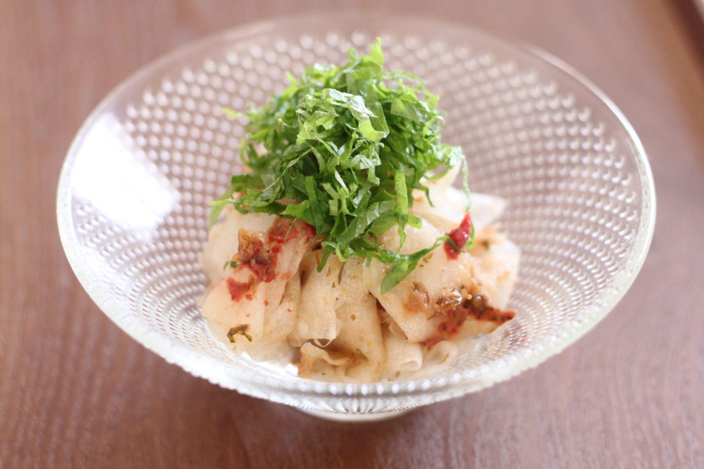 梅干と大葉みそを使った大根スライスサラダ 大葉レシピ