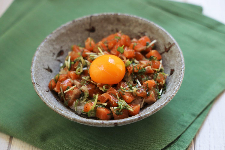 サーモンの大葉タルタル丼 大葉レシピ