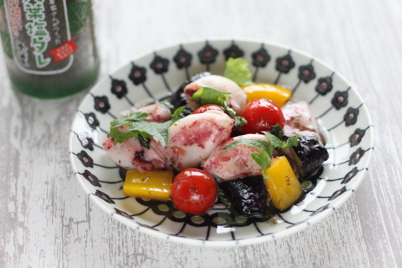 大葉塩ダレを使った小イカのガーリックソテー 大葉レシピ