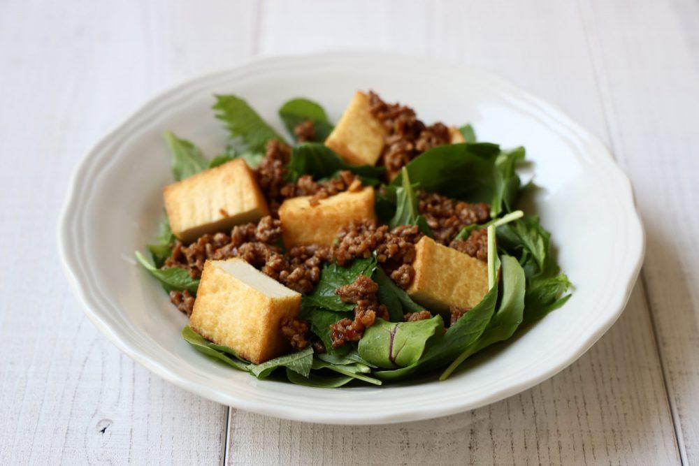 大葉肉みそ厚揚げサラダ 大葉レシピ