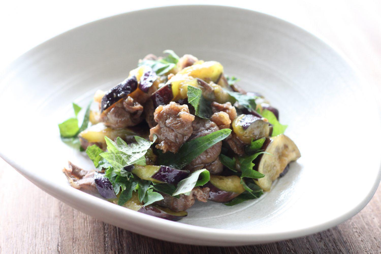 大葉味噌を使った牛肉と茄子のこく旨炒め 大葉レシピ