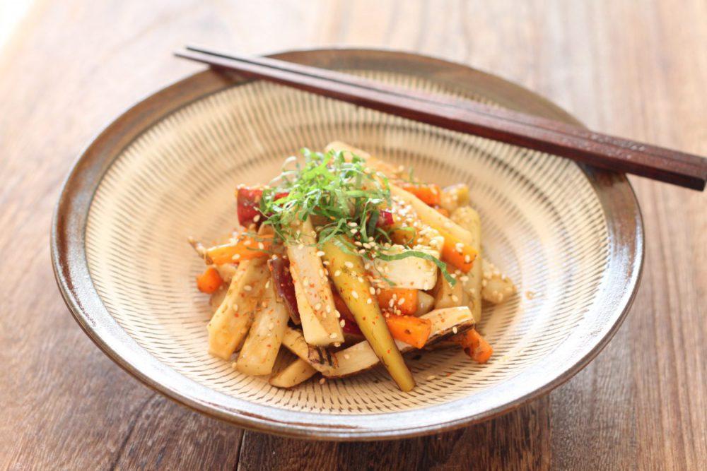 皮付き根菜大葉味噌炒め 大葉レシピ