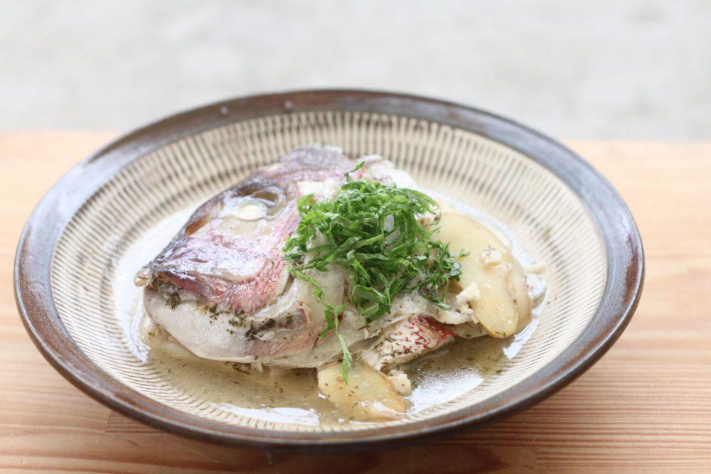 大葉塩ダレだけで作る鯛のあら煮 大葉レシピ