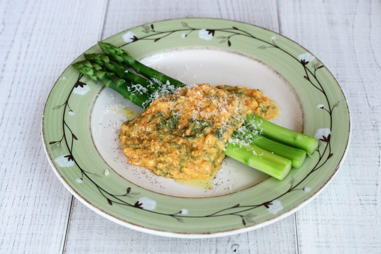 大葉とアスパラガスのスクランブルエッグ 大葉レシピ