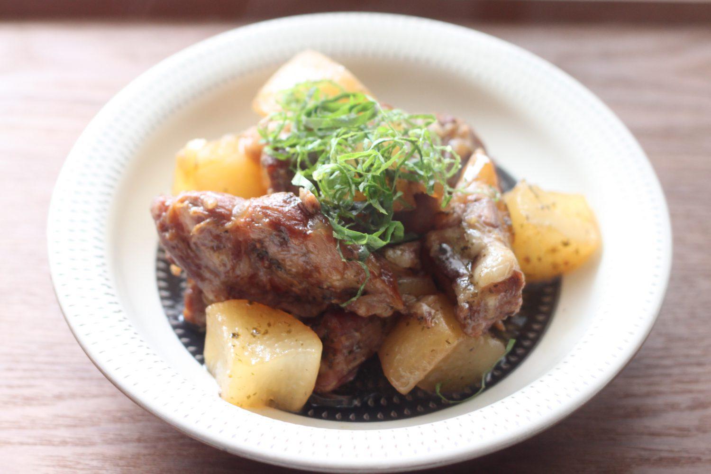 大葉ドレッシングで作る豚軟骨と大根の甘辛煮 大葉レシピ