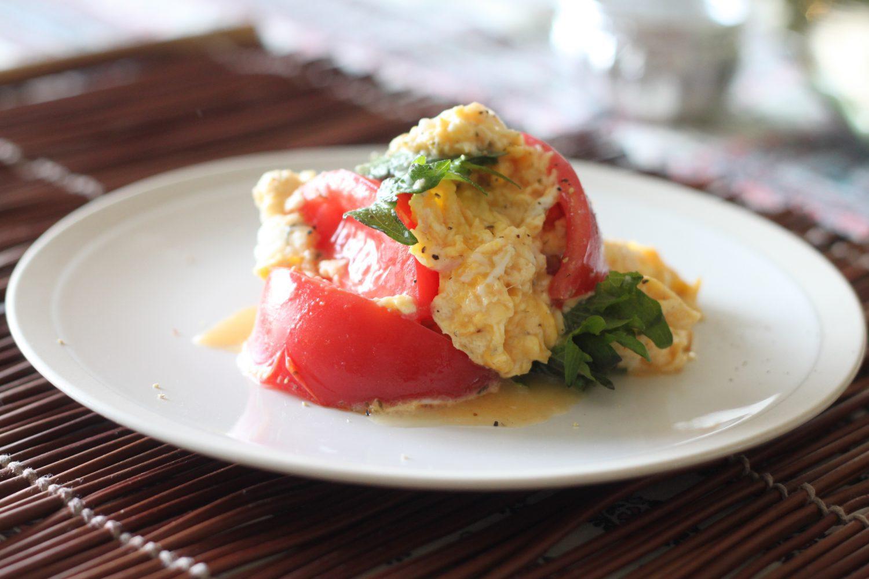 簡単!トマトと卵の大葉塩ダレ炒め